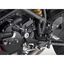 """Rizoma Rear sets control Kit """"REV"""", Black Anodized   PE211B"""